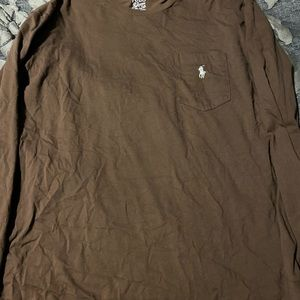 Men's brown Ralph Lauren t-shirt